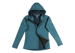 Leda softshell jacket 8591 teal flat lay